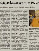 Bericht über die Ehrung der RTF-Fahrer auf Bezirksebene in der Westdeutschen Zeitung (24.November 2015)