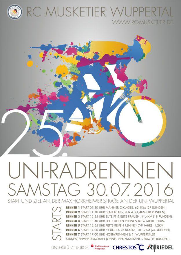 Plakat zum UNI-Rennen 2016