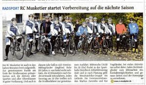 Bericht über die Saisonabschlussfahrt in der Westdeutschen Zeitung vom 07.November 2015