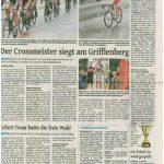 Bericht über das UNI-Rennen 2015 in der Westdeutschen Zeitung vom 27.Juli 2015