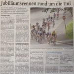 Vorbericht zum UNI-Rennen, Westdeutsche Zeitung am 27.Juli 2016