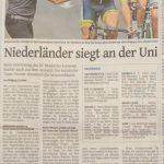 Bericht über das 25.UNI-Rennen, Westdeutsche Zeitung am 01.August 2016